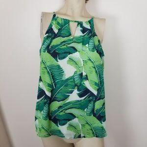 Francesca's palm leaf tank top. Size small